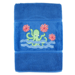 Octopus Garden Embroidered Luxury Hand Towel
