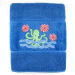 Octopus Garden Embroidered Luxury Bath Towel