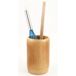Caramelized Bamboo Utensil Holder Crock