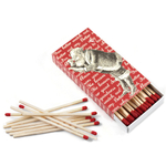 Homart Large Decorative Matches in Christmas Carols Box