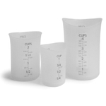 iSi Clear Silicone Measuring Cup, Set of 3
