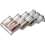 Chrome In Drawer Spice Rack 12 Bottle Organizer