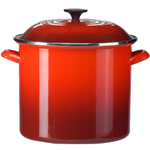 Le Creuset Cherry Enamel on Steel 6 Quart Stockpot