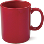 OmniWare Teaz Cafe Simply Red Stoneware 11 Ounce Classic Coffee Mug