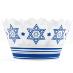 Bella Cupcake Couture Abigail Star of David Cupcake Wrapper, Set of 12