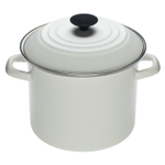 Le Creuset White Enamel on Steel Stockpot, 8 Quart