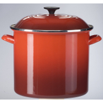 Le Creuset Cherry Enamel on Steel 8 Quart Stockpot