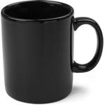 OmniWare Teaz Cafe Black Stoneware 11 Ounce Classic Coffee Mug
