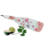 Tropical Pink Flamingo Tempered Glass Kitchen Cutting Board