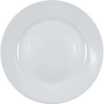 HIC Harold Import Co Rim White Porcelain 10.5 Inch Dinner Plate