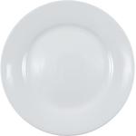 HIC Harold Import Co Rim White Porcelain 7.5 Inch Salad Plate
