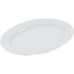 HIC Harold Import Co Rim White Porcelain 14 x 10.75 Inch Oval Platter