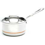 All-Clad Copper-Core with 18/10 Stainless Steel Sauce Pan with Lid, 1.5 Quart