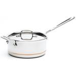 All-Clad Copper-Core with 18/10 Stainless Steel Sauce Pan with Lid, 3 Quart