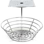 Lipper International Chrome Wire Hanging 36 K-Cup Carousel