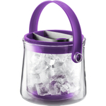Bodum Cool Double Wall Glass Ice Bucket in Purple