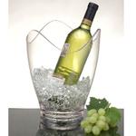 Art Deco Acrylic Salsa Scalloped Wine Ice Bucket