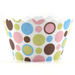Bella Cupcake Couture Dorothy Polkadot Mini Cupcake Wrapper, Set of 18