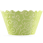 Bella Cupcake Couture Olivia Chartreuse and Yellow Mini Cupcake Wrapper, Set of 18
