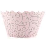 Bella Cupcake Couture Olivia Pink and Grey Mini Cupcake Wrapper, Set of 18