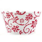 Bella Cupcake Couture Hannah Red and White Mini Cupcake Wrapper, Set of 18