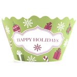 Bella Cupcake Couture Noelle Happy Holidays Cupcake Wrapper, Set of 12