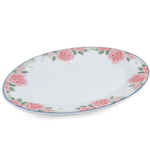 Pink Floral Porcelain 9.5 Inch Asian Serving Tray