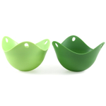Fusionbrands Green Silicone Non-Stick Poach Pod, Set of 2
