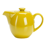 OmniWare Teaz Yellow Stoneware 24 Ounce Teapot with Stainless Steel Mesh Infuser