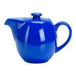OmniWare Teaz Blue Stoneware 24 Ounce Teapot with Stainless Steel Mesh Infuser