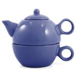Metropolitan Tea Blue Ceramic Tea For Me Pot
