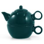 Metropolitan Tea Hunter Green Ceramic Tea For Me Pot