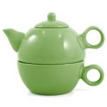 Metropolitan Tea Lime Green Ceramic Tea For Me Pot