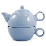 Metropolitan Tea Powder Blue Ceramic Tea For Me Pot