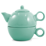 Metropolitan Tea Seafoam Green Ceramic Tea For Me Pot