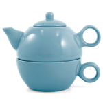 Metropolitan Tea Teal Blue Ceramic Tea For Me Pot