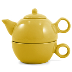 Metropolitan Tea Yellow Ceramic Tea For Me Pot