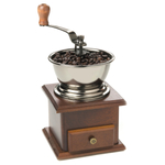 Fox Run Adjustable Wood and Steel Coffee Grinder with Hand Crank