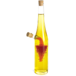 Fox Run 2-in-1 Glass Grapes Oil and Vinegar Bottle, 12 Inch