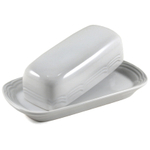 Fox Run White Stoneware Covered Butter Dish