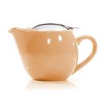 Cashew Beige Glazed Ceramic Teapot I-pot Tea Pot 17 Oz