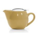Moss Green Glazed Ceramic Teapot I-pot Tea Pot 17 Oz