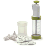 RSVP White and Green Cookie Press Plus