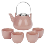 Old Dutch Ariel Pink 6 Piece Teapot Set