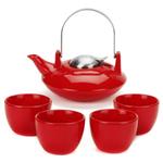 Old Dutch Saturn Red 6 Piece Teapot Set