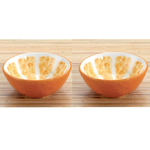 Orange Dip Bowls Set Of 2 Ceramic Snack Home Gourmet
