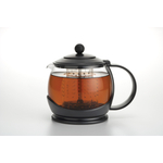 BonJour Prosperity Black Flavor Lock Glass Teapot with Infuser