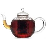 BonJour Celeste Glass Teapot Creamer & Sugar Set