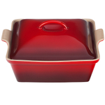 Le Creuset Heritage Cherry Stoneware Covered Square Casserole Dish, 2.5 Quart