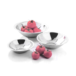 Amco 3 Piece Stainless Steel Serving Bowl Set